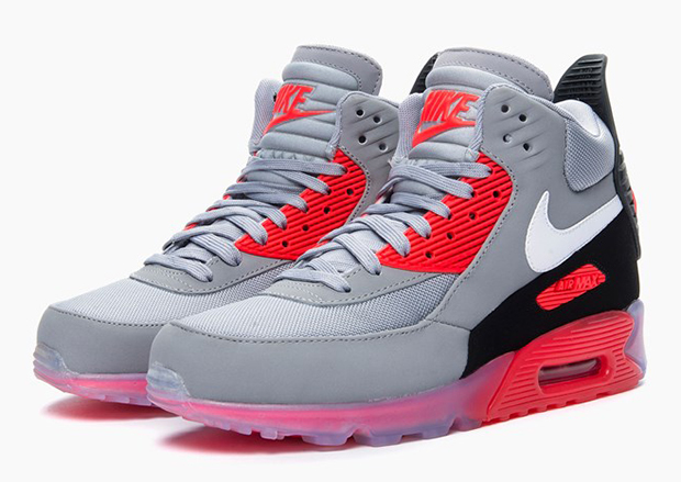 nike air max 90 sneakerboot ice infrared. Black Bedroom Furniture Sets. Home Design Ideas