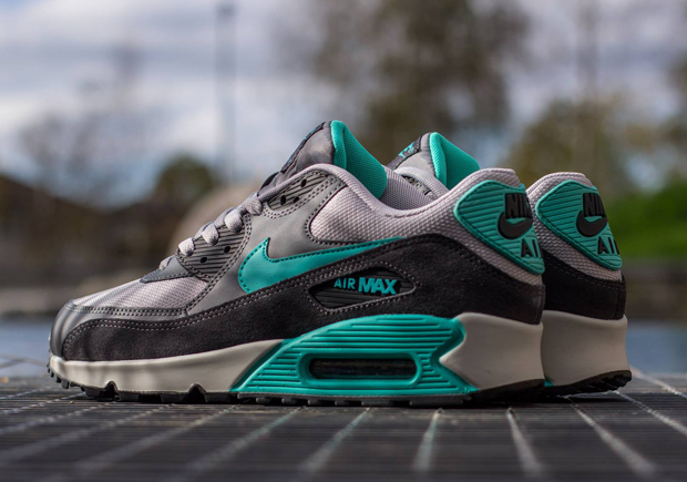 new style 6b930 586b0 Nike Air Max 90 Essential Color: Wolf Grey/Hyper Jade-Cool Grey Style Code:  537384-033. Advertisement