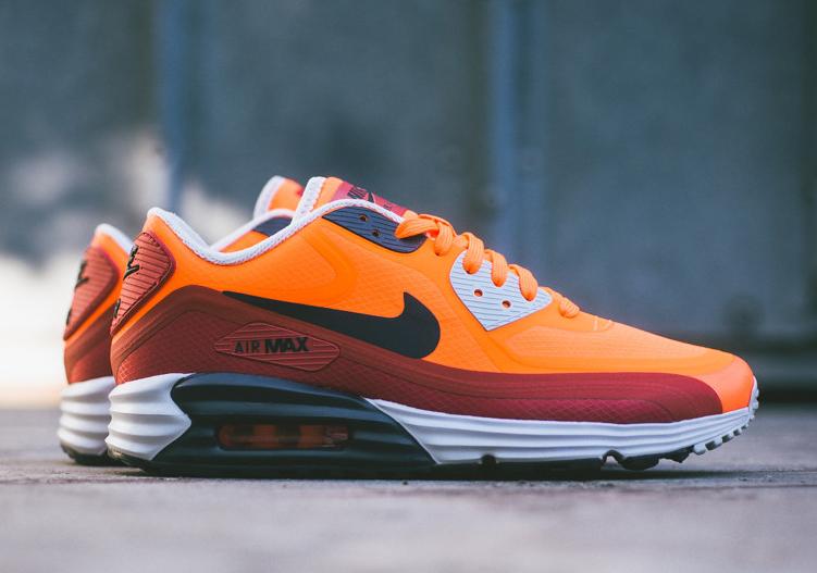 2d446703c195 Nike Air Max Lunar90 WR – Team Orange – Red Clay