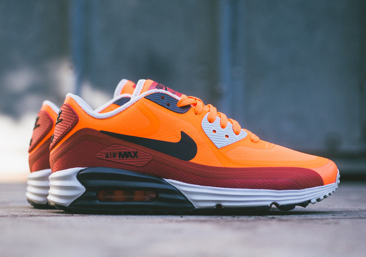 d1d5d2b8e4c7 Nike Air Max Lunar90 WR – Team Orange – Red Clay