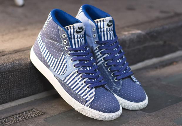 Nike Blazer Patchwork En Denim