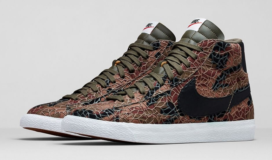 "Nike Blazer Mid ""Safari"" Color: Black/Cargo Khaki Style Code: 638322-003.  Release Date: 10/11/14. Price: $100"