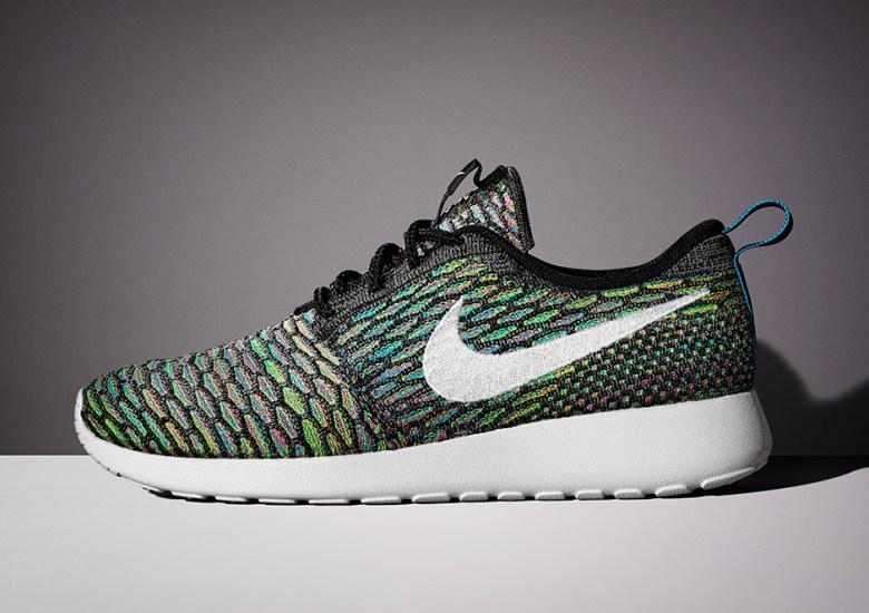 "super popular 46ec1 12721 Nike Flyknit Roshe Run ""Multi-Color"" – Release Date"