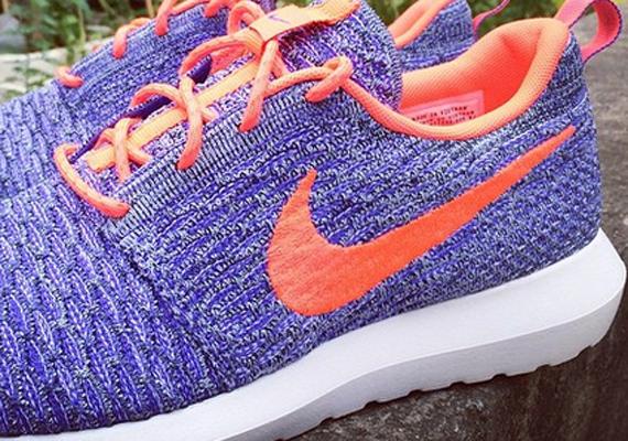 Nike Flyknit Roshe Courir Rouge Violet