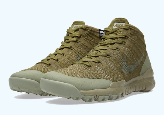 """A Detailed Look at the Nike Flyknit Trainer Chukka FSB """"Sage"""""""