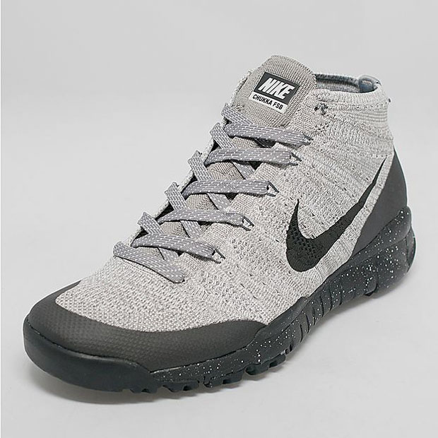 Nike Flyknit Trainer Chukka FSB - Light Charcoal - Black ...