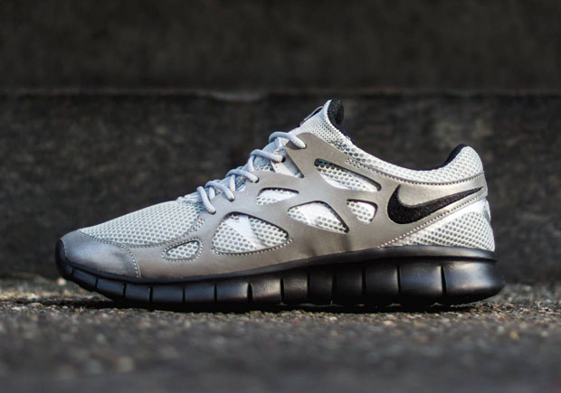 nike free run 2 reflective panelled sneakers for men