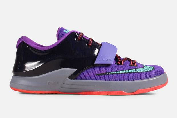 Nike KD 7 GS - Purple - Bleached Turquoise - Hyper Grape ...