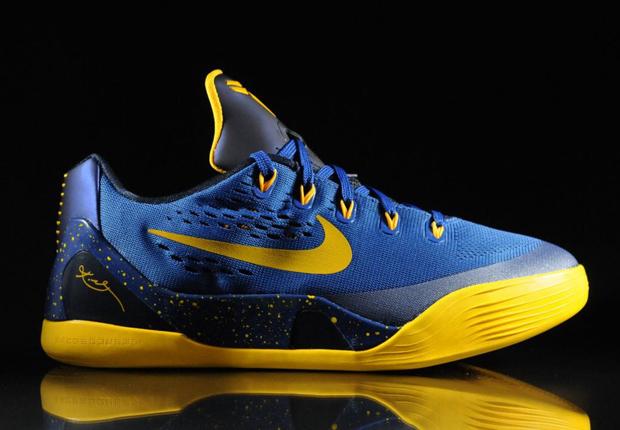 2de4d2de378 on sale Nike Kobe 9 EM GS Gym Blue University Gold Obsidian ...