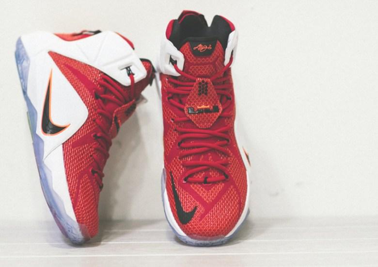 7f01570498d1 Nike LeBron 12 - University Red - White - Black - SneakerNews.com