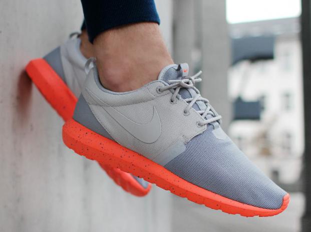 Nike Roshe Run Gray Orange