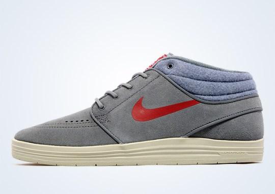 Nike SB Lunar Stefan Janoski Mid – Cool Grey – Gym Red