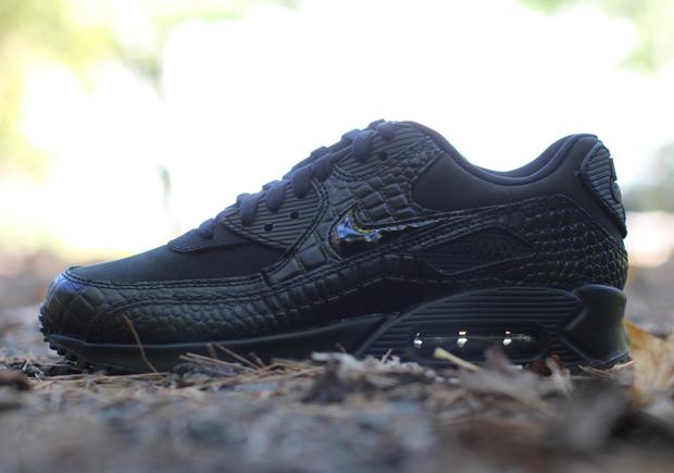 "super popular 32484 df243 Nike Womens Air Max 90 Premium ""Black Croc"" – Available"