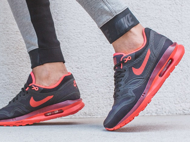 best sneakers 4a4b6 9a63d ... Nike Womens Air Max Lunar1 WR – Black – Action Red . ...