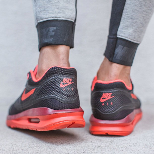 Femmes Nike Air Max Lunar1 Wr - Noir - Rouge Daction