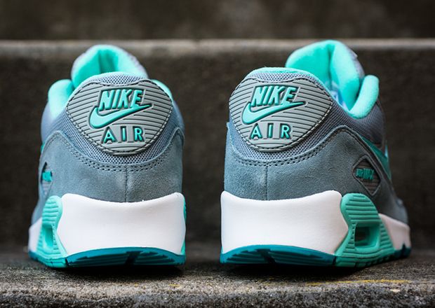 nike wmns air max 90 – silver / hyper turquoise