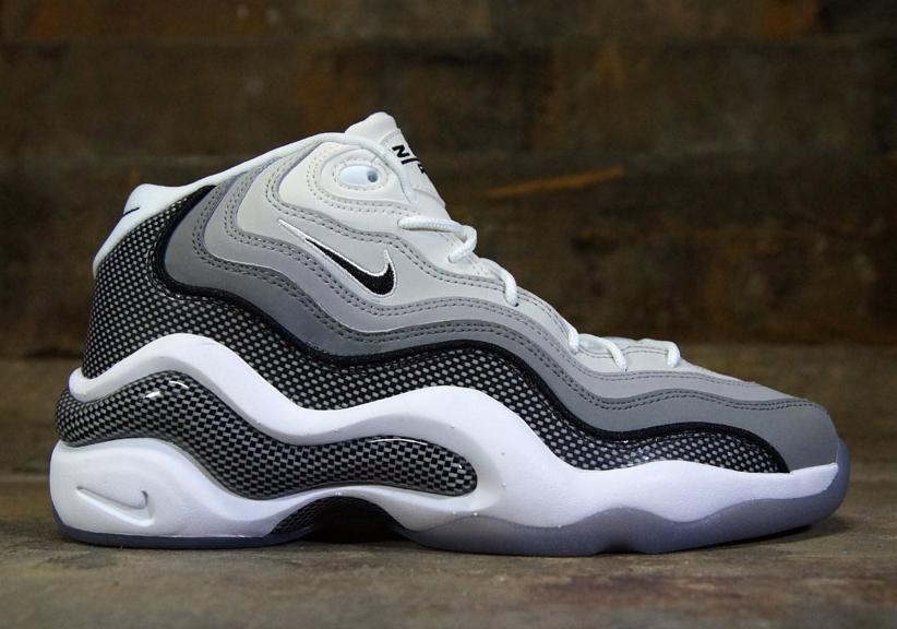 Nike Zoom Flight '96 - Metallic Silver - Black - Light Charcoal - Neutral Grey