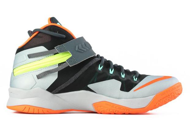 79bcc134f641 Nike Zoom LeBron Soldier 8. Color  Dark Magnet Grey Hyper Crimson-Light  Magnet Grey Style Code  653642-080