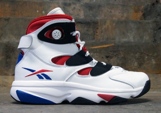 Reebok Shaq Attaq IV – White – Red – Blue