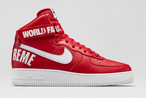 Supreme X Nike Air Force 1 Alto Rosso o87F8H