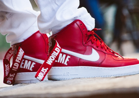 new concept 53b62 6c176 Supreme x Nike Air Force 1 High – Release Date