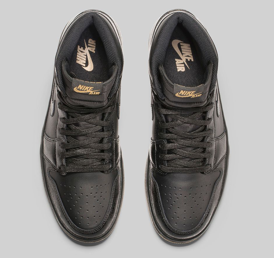 Air Jordan 1 Rétro Haute Og Noir / Noir Gomme Brun Clair sB30OlN