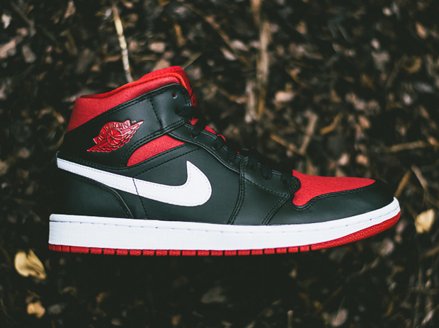 air jordan 1 black gym red white