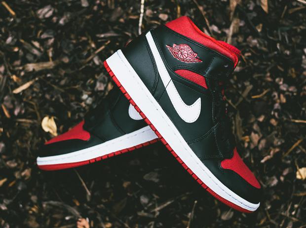 bfb1ee96f591 Air Jordan 1 Mid - Black - Gym Red - White - SneakerNews.com