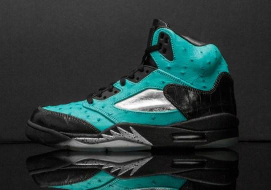 """Air Jordan 5 """"Tiffany"""" by JBF Customs"""