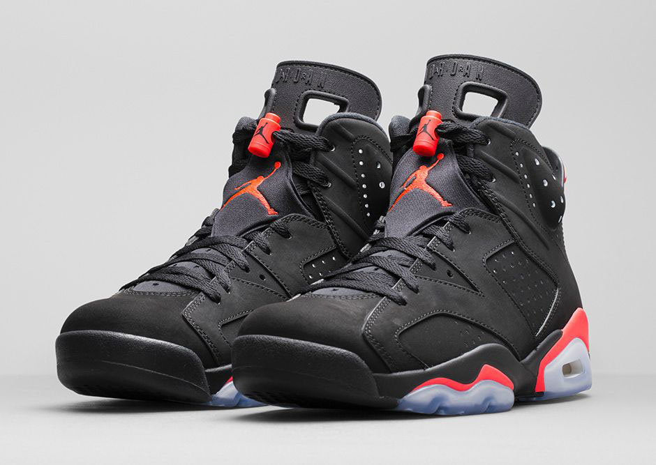 Mens Air Jordan 6 Retro Bulls Black Red shoes