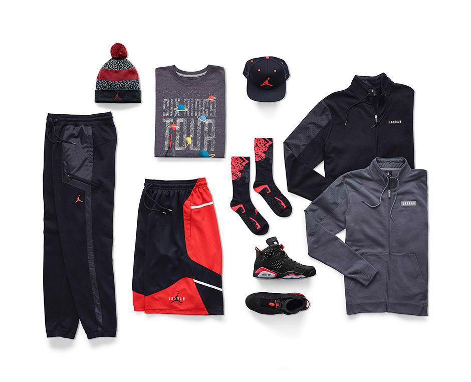 Nike Air Jordan 6 Retrò Gsc Infrarossi Nero 3EDzwM