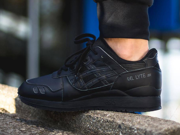 asics gel lyte 3 all black