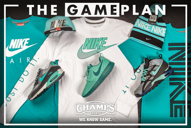 ecc643f71c40 The Game Plan by Champs Sports  Nike Hyper Jade Collection
