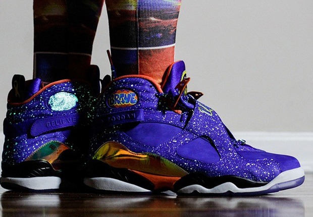 217446106e74 An On-Feet Look at the Air Jordan 8 Doernbecher - SneakerNews.com