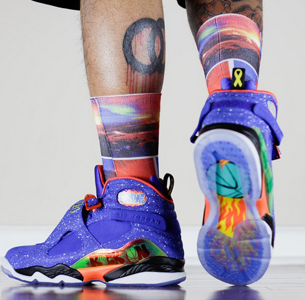 An On-Feet Look at the Air Jordan 8 Doernbecher ...