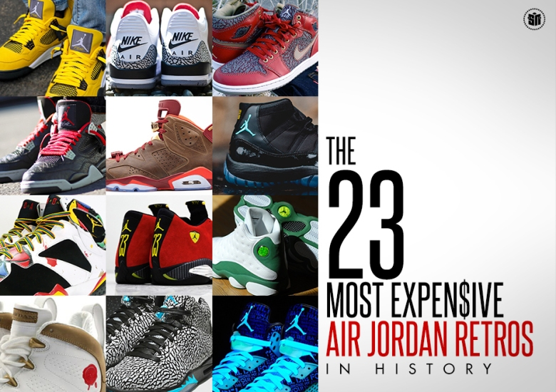 lowest price b4303 e1634 The 23 Most Expensive Air Jordan Retros In History
