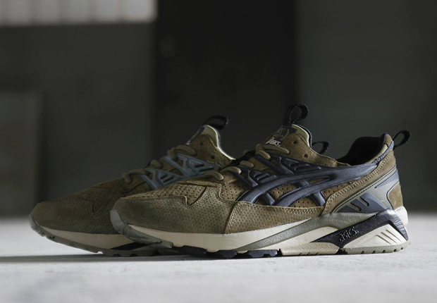 asics gel leather trainers
