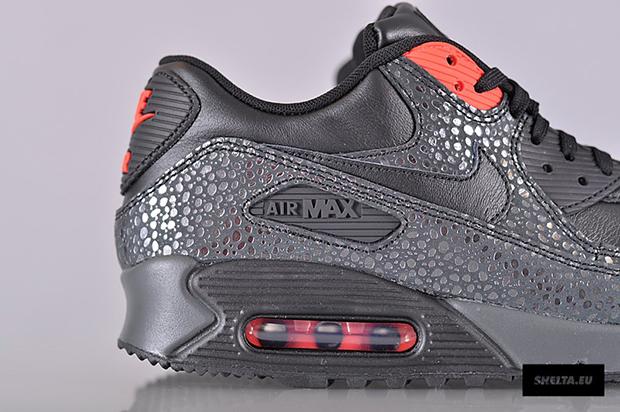 Nike Air Max 90 De Aire De Infrarrojos Negro Deluxe Qi0q9EWa