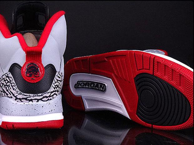 Jordan Spiz'ike GS - Wolf Grey - Gym Red - Black ... Jordan Spizike Black And Red