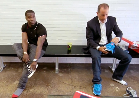 Jerry Seinfeld and Kevin Hart Bond Over Nike Air Huaraches