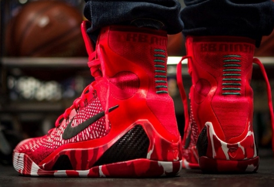 "Nike Kobe 9 Elite ""Christmas"" – On-Feet Images"