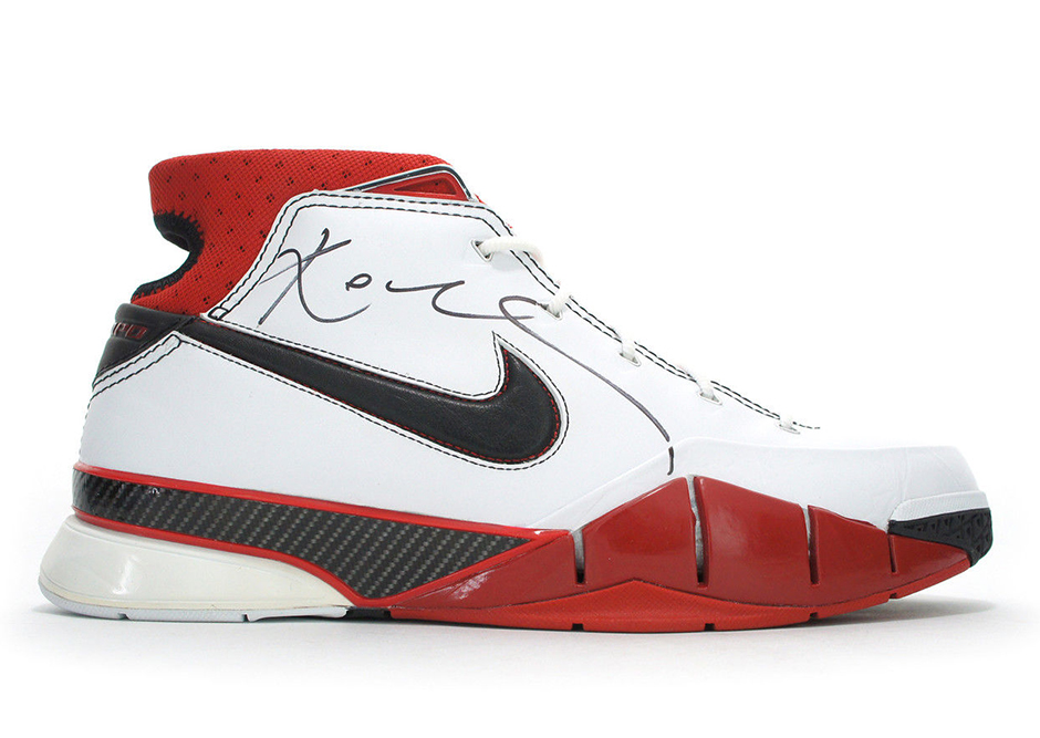 7bc9960dea9 Autographed Pair of Kobe Bryant s First Nike Signature Shoe is on eBay -  SneakerNews.com