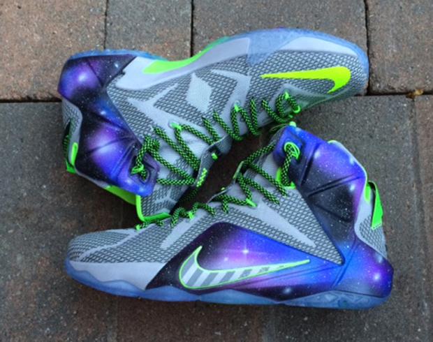 "Nike LeBron 12 ""Galaxy Dunk Force"" Customs - SneakerNews.com"