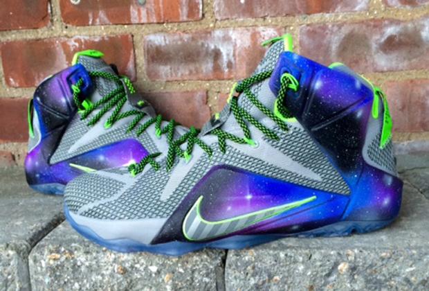 lebron 12 dunk galaxy Nike LeBron 12 Galaxy Dunk Force Customs