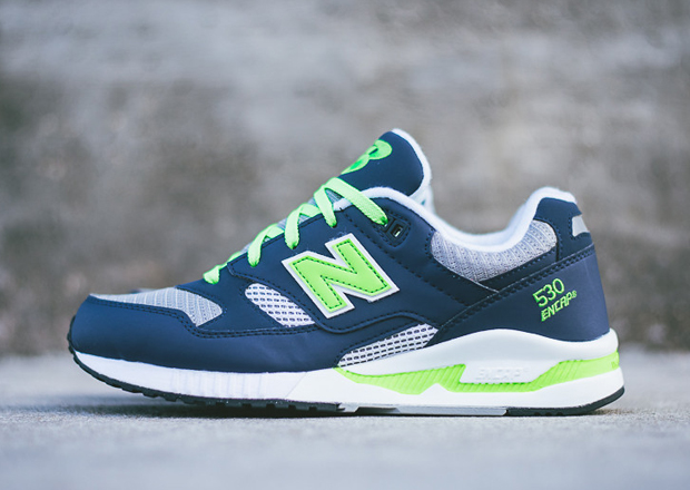 new balance 530 90 39 s running collection neon navy. Black Bedroom Furniture Sets. Home Design Ideas