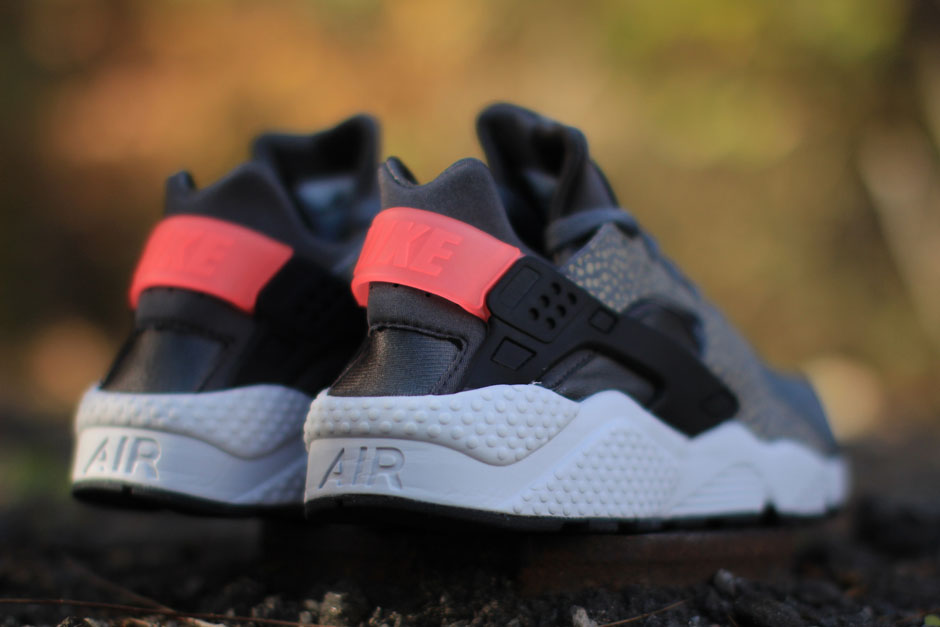 "97a7eff1575 Nike Air Huarache PRM ""Safari"" Color  Cool Grey Black-Medium-Ash-Hyper  Punch Style Code  704830-062. Release Date  11 26 14. Price   110"
