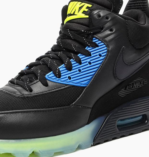Nike Air Max 90 Sneakerboot Ice Black Volt Photo Blue