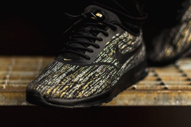 Nike De Deportes De Aire Max Thea Tejido Jacquard Negro / Oro I6fcqC
