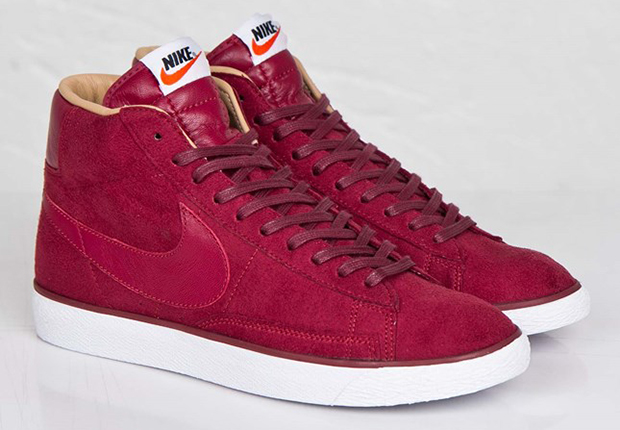 nike blazers high red suede 5s