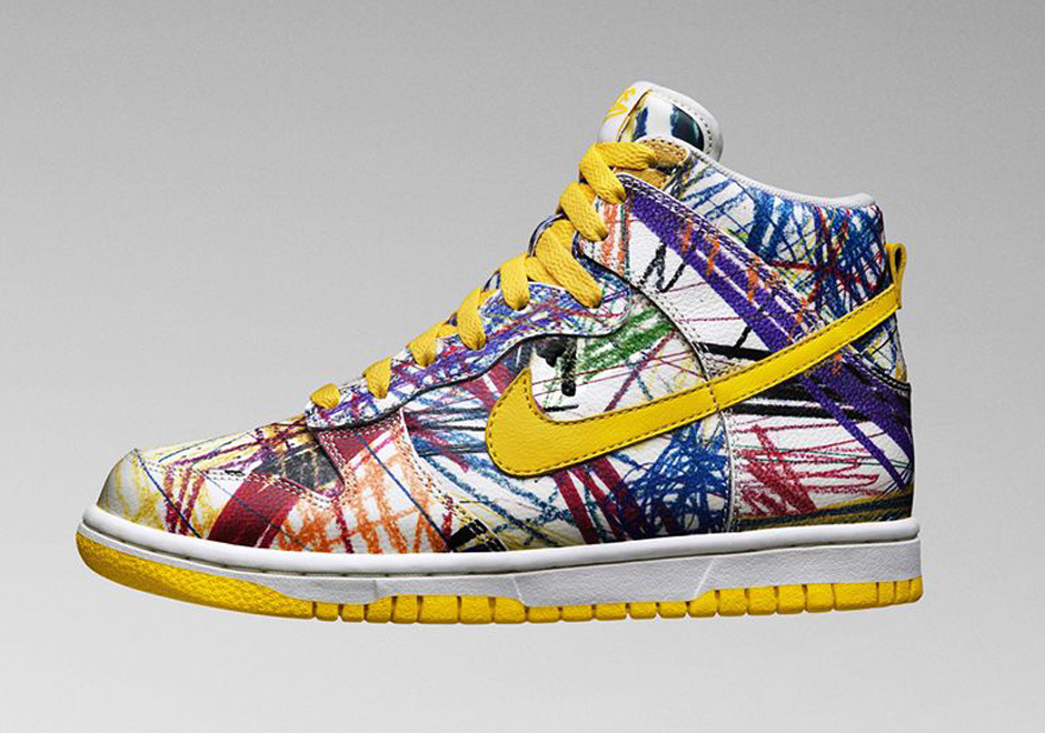 "the best attitude bb8e0 65533 Nike Dunk High Premium GS ""Scribble"""